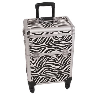 Sunrise White Zebra Rolling Makeup Case