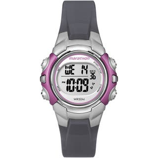 Timex T5K646M6 Women's Marathon Digital Mid-size Grey and Pink Watch|https://ak1.ostkcdn.com/images/products/9953248/P17107179.jpg?impolicy=medium