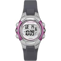 Timex T5K646M6 Women's Marathon Digital Mid-size Grey and Pink Watch