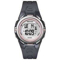 Timex T5K360M6 Women's Marathon Digital Mid-size Dark Grey/ Pink Watch