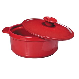 French Home 5.8- or 3.2-quart Poppy Red Flame Top Round Dutch Oven And Stewpot