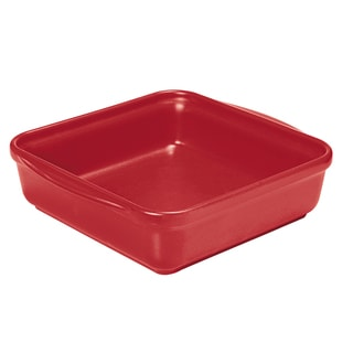 French Home 9.5-inch or 8-inch Red Square Baking Dish
