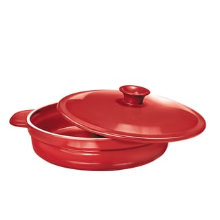 French Home 1.4-quart Red Poppy Flame Top Saute Pan
