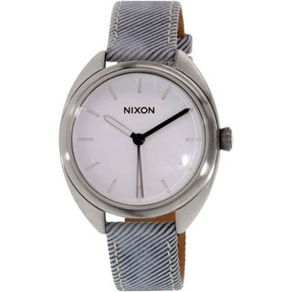 Nixon Women's Wit A318850 Silver Leather Quartz Watch