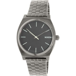 Nixon Men's Time Teller A0451885 Gunmetal Stainless-Steel Quartz Watch|https://ak1.ostkcdn.com/images/products/9953319/P17107391.jpg?_ostk_perf_=percv&impolicy=medium