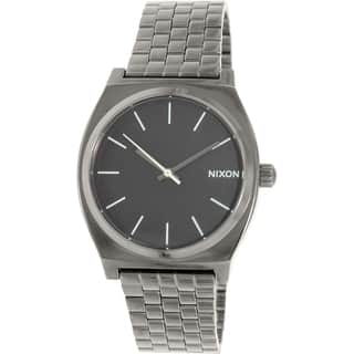 Nixon Men's Time Teller A0451885 Gunmetal Stainless-Steel Quartz Watch|https://ak1.ostkcdn.com/images/products/9953319/P17107391.jpg?impolicy=medium
