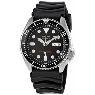 Seiko Men's Automatic SKX007K Black Rubber Automatic Watch https://ak1.ostkcdn.com/images/products/9953326/P17107237.jpg?impolicy=medium