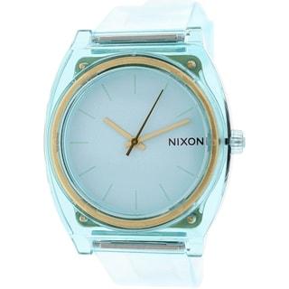 Nixon Women's Time Teller A1191785 Light Blue Plastic Quartz Watch