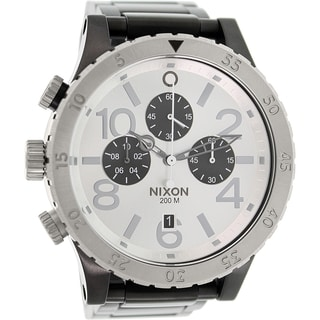 Nixon Men's 48-20 A486180 Black Stainless Steel Quartz Watch