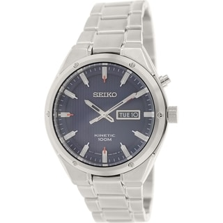 Seiko Men's SMY149 Stainless Steel Seiko Kinetic Watch