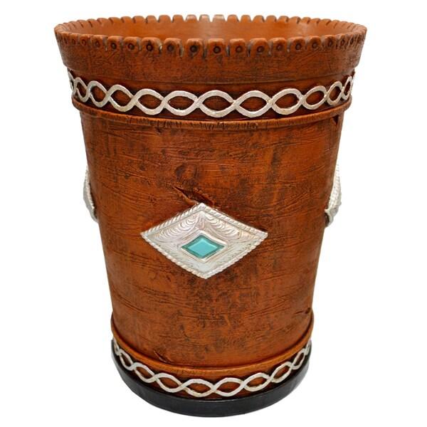HiEnd Accents Southwestern Waste Basket