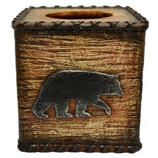 HiEnd Accents Rustic Bear Tissue Box