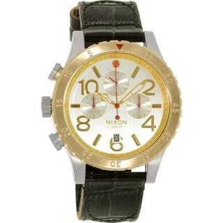 Nixon Men's 48-20 A3631884 Black Leather Quartz Watch