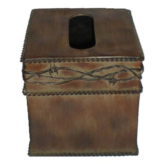 HiEnd Accents Barbwire Tissue Box
