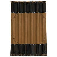 HiEnd Accents Embroidered Barbwire Shower Curtain