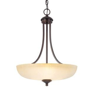 Capital Lighting Chapman Collection 3-light Burnished Bronze Pendant
