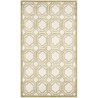 Safavieh Indoor/ Outdoor Amherst Ivory/ Light Green Rug - 3' x 5'