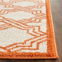 Safavieh Indoor/ Outdoor Amherst Ivory/ Orange Rug - 3' x 5'