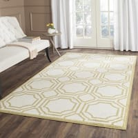 Safavieh Indoor/ Outdoor Amherst Ivory/ Light Green Rug (9' x 12')