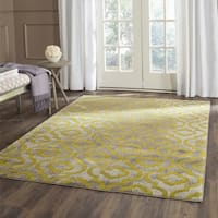 Safavieh Porcello Contemporary Moroccan Light Grey/ Green Rug - 3' x 5'