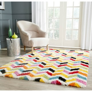 Safavieh Kids Shag Playful Ivory/ Multi Rug (3' x 5')