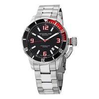 Stuhrling Original Men's Swiss Quartz Aquadiver Stainless Steel Watch