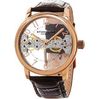 Stuhrling Original Men's Mechanical Legacy Leather Strap Watch|https://ak1.ostkcdn.com/images/products/9953619/P17107577.jpg?impolicy=medium