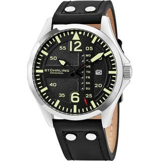 Stuhrling Original Men's Quartz Leather Strap Watch|https://ak1.ostkcdn.com/images/products/9953625/P17107582.jpg?impolicy=medium