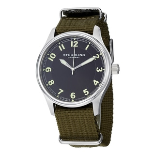 Stuhrling Original Men's Aviator Quartz Canvas Strap Watch