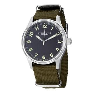 Stuhrling Original Men's Aviator Quartz Canvas Strap Watch