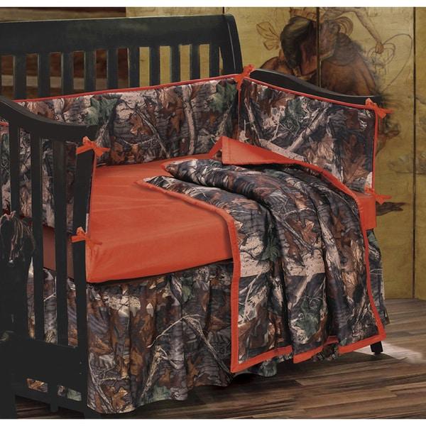 HiEnd Accents Oak Camo Crib Set