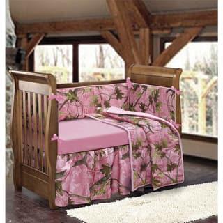 HiEnd Accents Girls' Pink Camo Crib Bedding Set|https://ak1.ostkcdn.com/images/products/9953657/P17107510.jpg?impolicy=medium