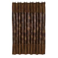 HiEnd Accents Brown Leather Shower Curtain
