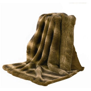 HiEnd Accents Wolf Faux Fur Throw