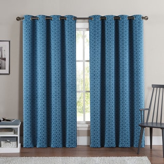 VCNY Duncan 84-Inch Grommet Top Blackout Curtain Panel Pair