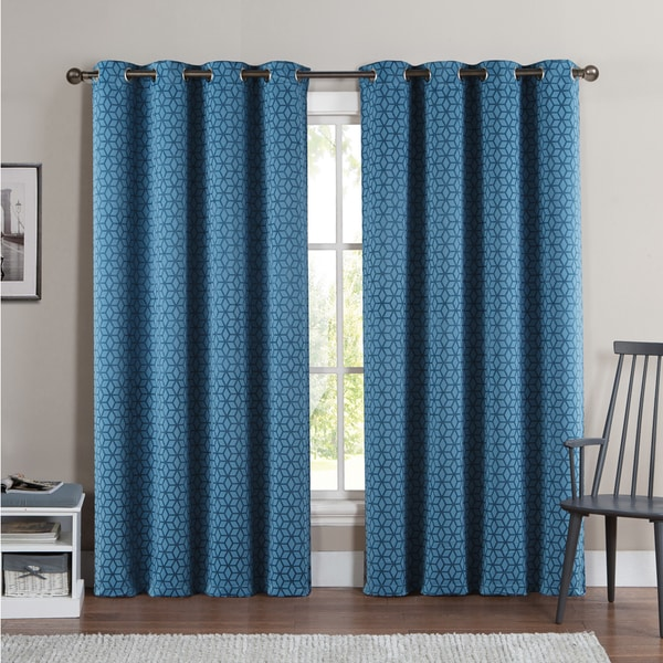 Vcny Duncan 84 Inch Grommet Top Blackout Curtain Panel Pair 52 X 84 Free Shipping On Orders