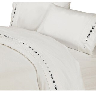 HiEnd Accents Embroidered Southwestern Sheet Set