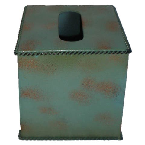 HiEnd Accents Turquoise Tissue Box