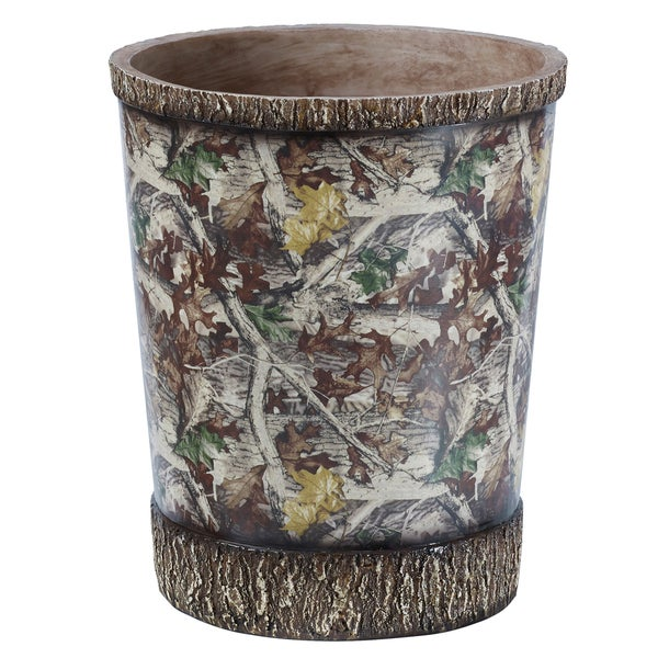 Shop hiend accents camo waste basket free shipping on for Waste baskets for bathroom