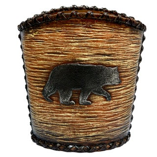 HiEnd Accents Rustic Bear Waste Basket