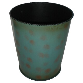 HiEnd Accents Turquoise Waste Basket