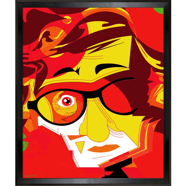 87197a54a8cf Shop Ofir Sasson Woody Framed Fine Art Print - Red - On Sale - Free ...