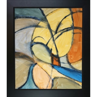 Clive Watts Curvey Abstraction Framed Fine Art Print