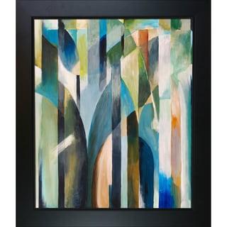 Clive Watts Blue Curve Framed Fine Art Print