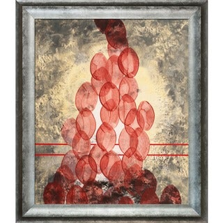 Clive Watts Red Ovals Framed Fine Art Print