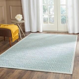 Safavieh Paradise Modern Ivory/ Turquoise Viscose Rug (4' x 6')