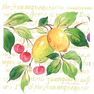Fresca Fruit Lemons and Cherries Absorbent Stone Coaster (Set of 4)