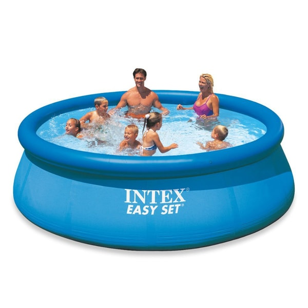 intex 12 x 30 easy set pool free shipping today. Black Bedroom Furniture Sets. Home Design Ideas