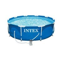 Intex 10 ft. x 30 in. Metal Frame Swimming Pool with 330 GPH Filter Pump