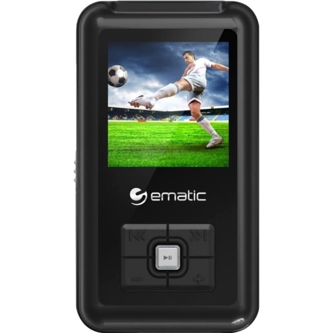 XOVision Ematic EM208VID 8 GB Black Flash Portable Media Player #EM208VIDBL